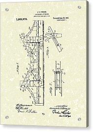 Bridge 1918 Patent Art Acrylic Print