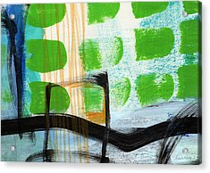 Bridge- Abstract Landscape Acrylic Print by Linda Woods