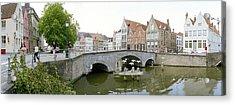 Bridge Across A Channel, Bruges, West Acrylic Print