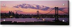 Bridge Across A River, Ben Franklin Acrylic Print