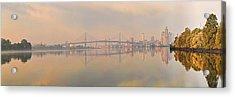 Bridge Across A River, Benjamin Acrylic Print by Panoramic Images