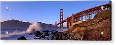 Bridge Across The Bay, San Francisco Acrylic Print