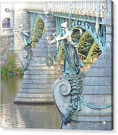 Bridge Adornment In Prague Acrylic Print by Kay Gilley