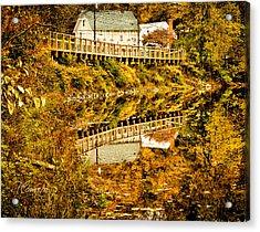 Bridge At C'ville Acrylic Print by Tom Cameron