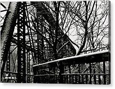 Bridge At Snowfall Acrylic Print
