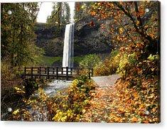 Bridge At South Falls Acrylic Print