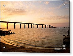Bridge At Sunrise Acrylic Print