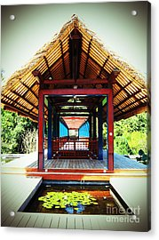 Bridge At Ubud Acrylic Print
