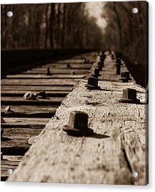 Bridge Bolts Photo Acrylic Print by Rick McKee