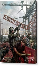 Bridge Construction 1909 Acrylic Print by Granger