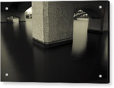 Bridge Contemplations Acrylic Print by Dave Dilli