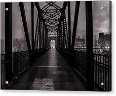Bridge Crossing Acrylic Print by Bob Orsillo