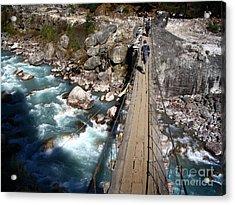 Bridge Crossing Acrylic Print by Tim Hester