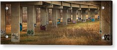 Acrylic Print featuring the photograph Bridge Graffiti by Patti Deters
