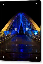 Bridge In Blue Acrylic Print by Brendan Quinn