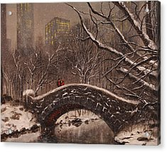 Bridge In Central Park Acrylic Print by Tom Shropshire
