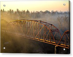 Bridge In Fog  Acrylic Print