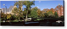 Bridge In Front Of A University, Music Acrylic Print by Panoramic Images