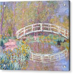 Bridge In Monet's Garden Acrylic Print by Claude Monet