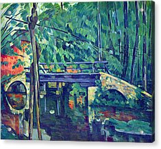 Bridge In The Forest By Cezanne Acrylic Print by John Peter
