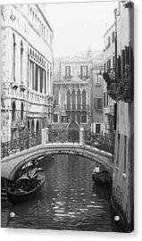 Bridge In Venice Acrylic Print by Dorothy Berry-Lound