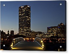 Acrylic Print featuring the photograph Bridge Into Milwaukee by Deborah Klubertanz