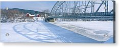 Bridge Into New Hampshire From Vermont Acrylic Print by Panoramic Images