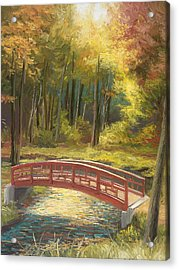 Bridge Acrylic Print by Lucie Bilodeau