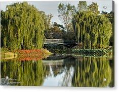 Bridge Of Reflection Acrylic Print by Leo Thomas Garcia
