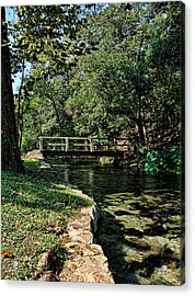 Bridge Of Serenity Acrylic Print by Judy Vincent