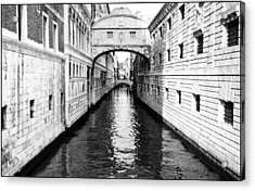 Bridge Of Sighs Bw Acrylic Print