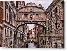 Bridge Of Sighs In Venice Acrylic Print