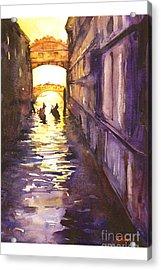 Bridge Of Sighs Acrylic Print by Ryan Fox