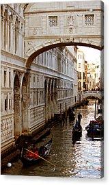 Bridge Of Sighs Venice Acrylic Print by Cedric Darrigrand
