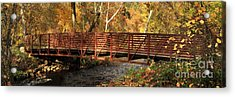 Bridge On Big Chico Creek Acrylic Print by James Eddy