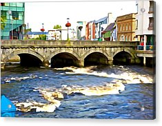 Acrylic Print featuring the photograph Bridge On The Garavogue by Charlie and Norma Brock