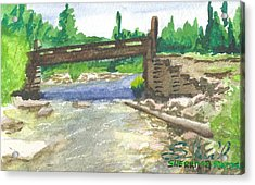 Bridge On The Red Cloud Loop Acrylic Print