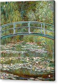 Bridge Over A Pond Of Water Lilies Acrylic Print by Claude Monet
