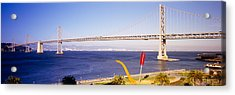 Bridge Over An Inlet, Bay Bridge, San Acrylic Print by Panoramic Images