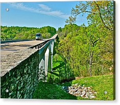 Bridge Over Birdsong Hollow At Mile 438 Of Natchez Trace Parkway-tennessee Acrylic Print by Ruth Hager