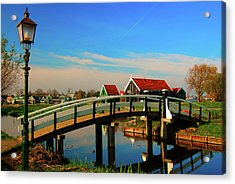 Bridge Over Calm Waters Acrylic Print by Jonah  Anderson