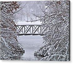 Bridge Over Clear Water Acrylic Print