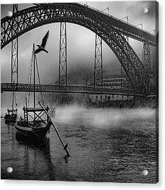 Bridge Over Douro Acrylic Print by Fernando Jorge Gon?alves