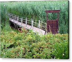 Bridge Over Eel River Acrylic Print by Janice Drew