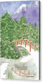 Bridge Over Frozen Water Acrylic Print
