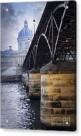 Bridge Over Seine In Paris Acrylic Print by Elena Elisseeva