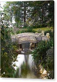 Bridge Over Stream Acrylic Print by Terry Reynoldson