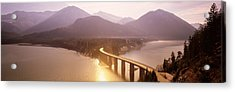 Bridge Over Sylvenstein Lake, Bavaria Acrylic Print