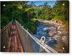 Bridge Over The Pacuare Acrylic Print