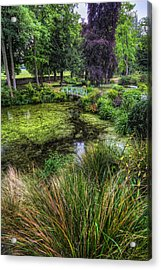 Bridge Over The Pond Acrylic Print by Ian Mitchell